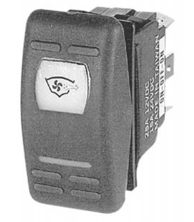 Interruttore a bascula impermeabili IP56 Marina R doppio LED