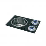 Piani cottura integrato vetro cristallo / Inox
